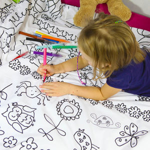 Kids Colour In Duvet Set - gifts for children
