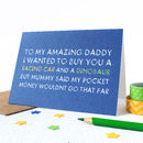 Personalised 'Pocket Money' Greetings Card