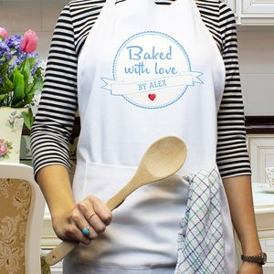 Baked With Love Personalised Apron - aprons