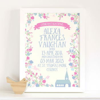 Personalised christening gift baby girl