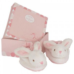 Soft Rabbit Slippers In Pink, Blue And Beige