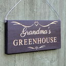 Decorative Engraved Personalised Wooden Sign
