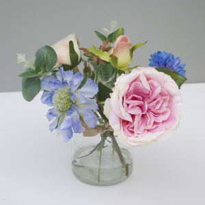 Pale Pink Silk Bouquet - artificial flowers
