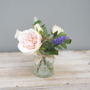 Apricot Rose Artificial Bouquet - flowers