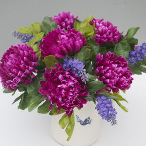 Artificial Purple Chrysanthemum - room decorations