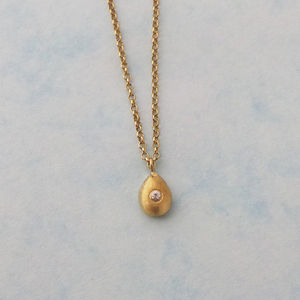 Gold And White Sapphire Nugget Necklace - necklaces & pendants