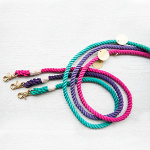 Handmade Adjustable Ombre Rope Lead - gifts for pets