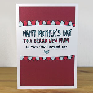 'On Your First Mother's Day' A6 Greetings Card