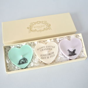 Personalised Easter Heart Candle Gift Box - candles & candlesticks