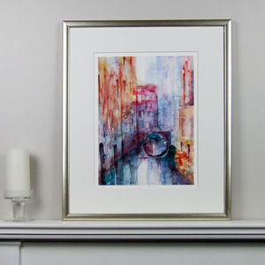 Limited Edition Venice Canal Fine Art Canvas Print - modern & abstract