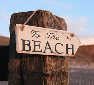 Reclaimed Wood 'To The Beach' Sign - weddings sale