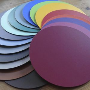Set Of Six Leather Coasters