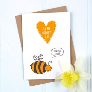 'Ha Bee Mother's Day' Bumblebee Card - cards & wrap