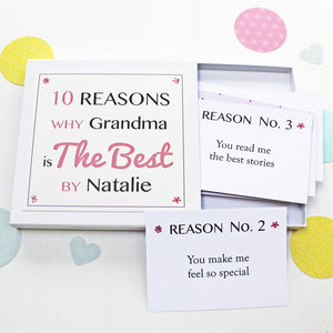 Personalised Best Grandma Notes - gifts for grandmas