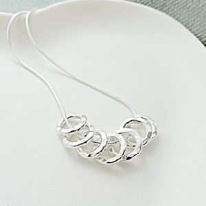 70th Birthday Silver Rings Necklace - birthday gifts