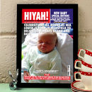 Personalised New Baby Magazine Cover Print