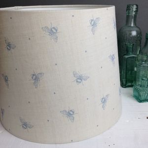 Handmade Busy Bees Linen Lampshade
