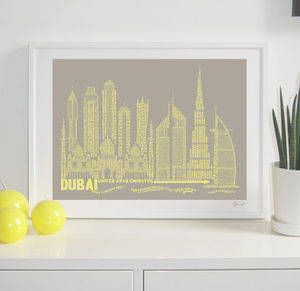Dubai Typography Print - contemporary art
