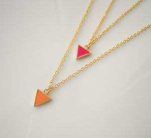 Triangle Geo Necklace - necklaces & pendants