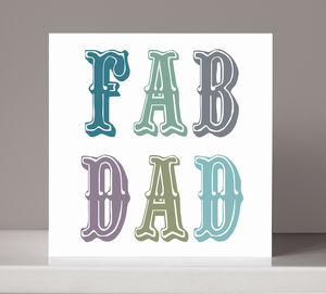 'Fab Dad' Card - birthday cards