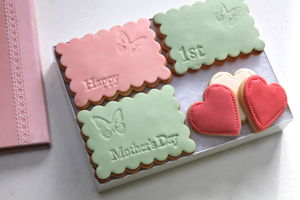 Happy First Mother's Day Cookie Box - biscuits and cookies