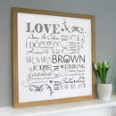 wooden framed print in white
