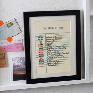 Personalised Story Library Card Print - best anniversary gifts