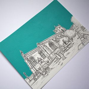 Personalised Wedding Venue Portrait On Paper - living room