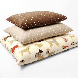 Charley Chau Luxury Cotton Top Dog Bed - dogs