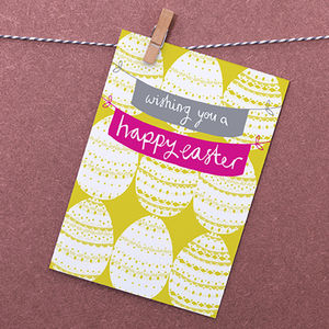 Easter Eggs Greetings Card - shop by category