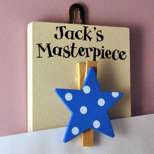 Personalised 'This Week's Masterpiece' Peg - hooks, pegs & clips