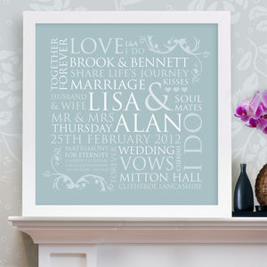 Personalised Wedding Word Design Print