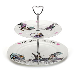 Alice In Wonderland Two Tier Cake Stand