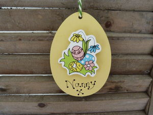 Personalised Eggs And Flowers Easter Decoration - easter decorations