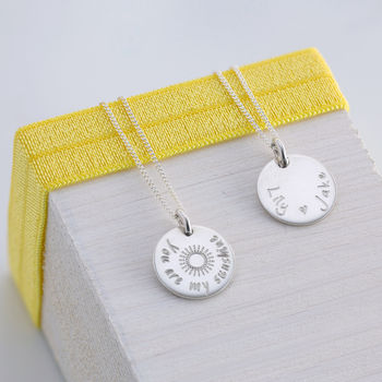 Personalised You Are My Sunshine Necklace