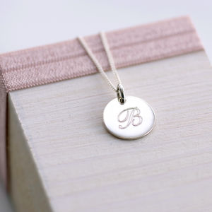Personalised Silver Monogram Necklace - necklaces & pendants