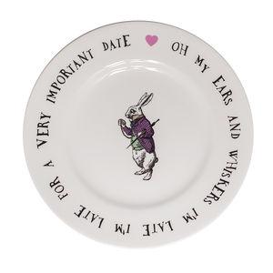 White Rabbit Fine Bone China Tea Plate