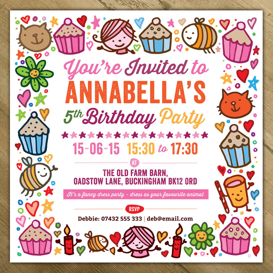 childrens party invitations koni polycode co