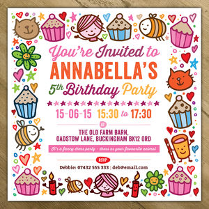 Childrens Party Invitations - gifts for her