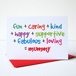 'Mummy' Card - cards sent direct