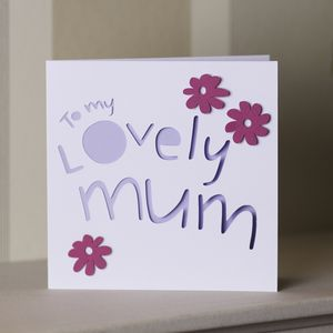 'To My Lovely Mum' Card