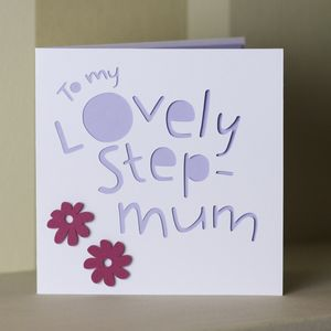 'To My Lovely Step Mum' Card