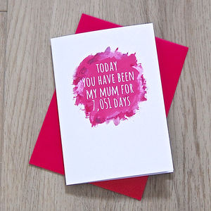 Personalised Watercolour Mummy/Mum Days Card