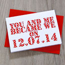 Personalised 'You and Me Became We' Card