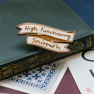 Sherlock Brooch High Functioning Sociopath - pins & brooches