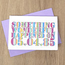 Personalised 'Something Wonderful…' Card