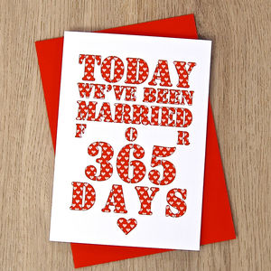 Personalised Days Of Marriage Card - home sale