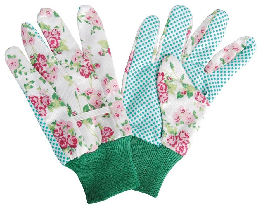 Ladies garden gloves rose by garden selections for Gardening gloves ladies
