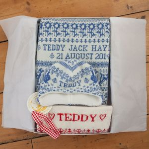 Personalised Baby Gift Set - blankets, comforters & throws
