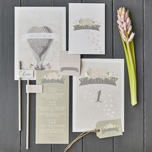 Love Is In The Air On The Day Wedding Stationery
